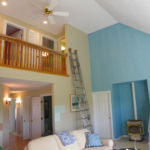 Home interior being painted